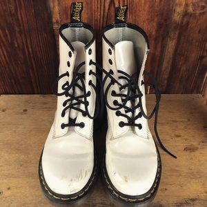 WHITE Dr. Martens (Patent Leather)